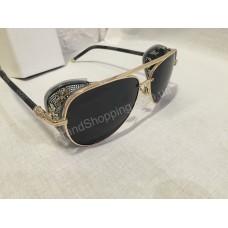 Солнцезащитные очки капли в золотой оправе 111O