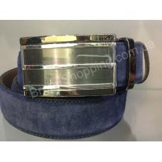 Замшевый кожаный ремень Alon 0550 с автоматической пряжкой мужской