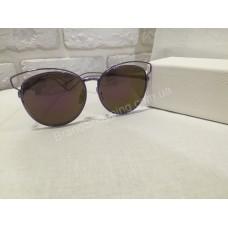 Солнцезащитные очки зеркальные в сиреневой оправе Dior F824