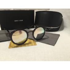 Солнцезащитные очки Giorgio Armani Lux зеркальные  в чёрной оправе 5155G