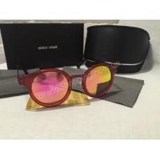 Солнцезащитные очки Giorgio Armani Lux зеркальные в красной оправе 5155GK