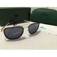 Солнцезащитные очки Lacoste Lux черные с  золотыми дужками  L148S