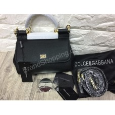 Сумочка женская Dolce&Gabbana mini из кожи saffiano в черном цвете арт 20300