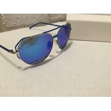 Солнцезащитные очки зеркальные синие 1855O