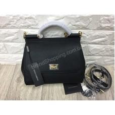 Женская сумочка Dolce&Gabbana из натуральной кожи saffiano цвет черный арт 20305