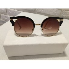 Солнцезащитные очки круглые коричн/беж 0176