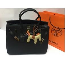 NEW!Брендовая кожаная сумка Hermes Birkin Black  1433