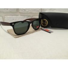 Солнцезащитные очки Ray Ban с коричн дужками 01498