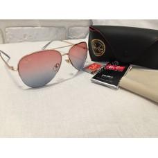 Солнцезащитные очки Ray Ban Aviator закат оправа Gold 0148