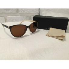 Солнцезащитные очки Lady коричневые кофе с молоком 0145