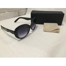 Солнцезащитные очки Gucci чёрные 0144