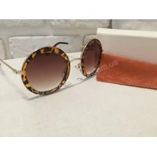 Солнцезащитные очки Chic fasion круглые коричневые 01582