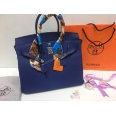 Женская сумка Hermes 35см натуральная кожа  0411