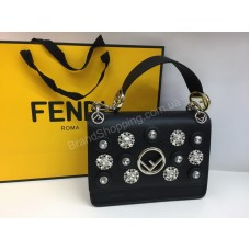 ХИТ! Ультра модная сумочка Fendi с камнями swarovski в черном цвете арт 20101