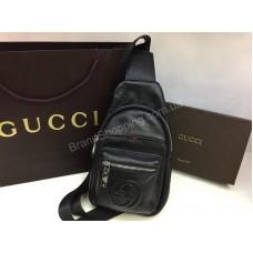 Новинка! Мужская сумка-бананка Gucci из натуральной кожи арт 20102