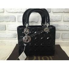 Сумка Lady Dior лак чёрная лак 788