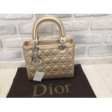 Сумка Lady Dior золото 7881