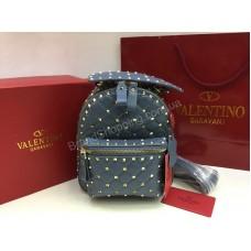 Рюкзак из натуральной кожи Valentino в нежно- голубом цвете арт 20111