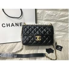 Женская сумочка Chanel реплика с жемчугом натуральная кожа арт 20532