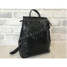 Шикарный рюкзак-сумка черный с буквами черный 1508