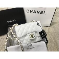 Сумочк Chanel Classic mini в белом цвете арт 20533