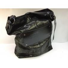 Шикарная женская сумка в большом размере в лазерной коже