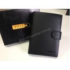 Кошелек Zilli из натуральной кожи с черная фурнитура арт 20407