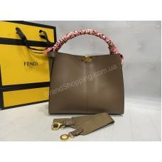 Стильная сумка Fendi Lux натуральная кожа арт 21182