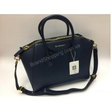 Женская кожаная сумка Givenchy синяя 1465