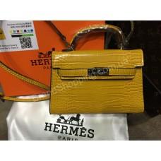 ХИТ! Нереально стильная сумочка Hermes Kelly mini  рептилия арт 20348