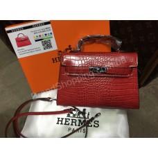 ХИТ! Ультра модная сумочка Hermes Kelly mini рептилия арт 20350
