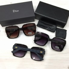 Очки Dior реплика черные коричневые  арт 21510