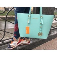 Вместительная женская сумка Michael Kors 2198G blue