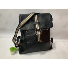 Рюкзак -сумка из натуральной кожи цвет черный  арт 20313