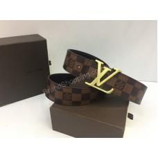 Ремень Louis Vuitton из натуральной кожи и канвы в lux качестве в коробке арт 20141