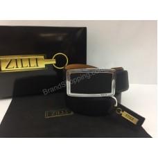Ремень Zilli в черном цвете в полном комплекте