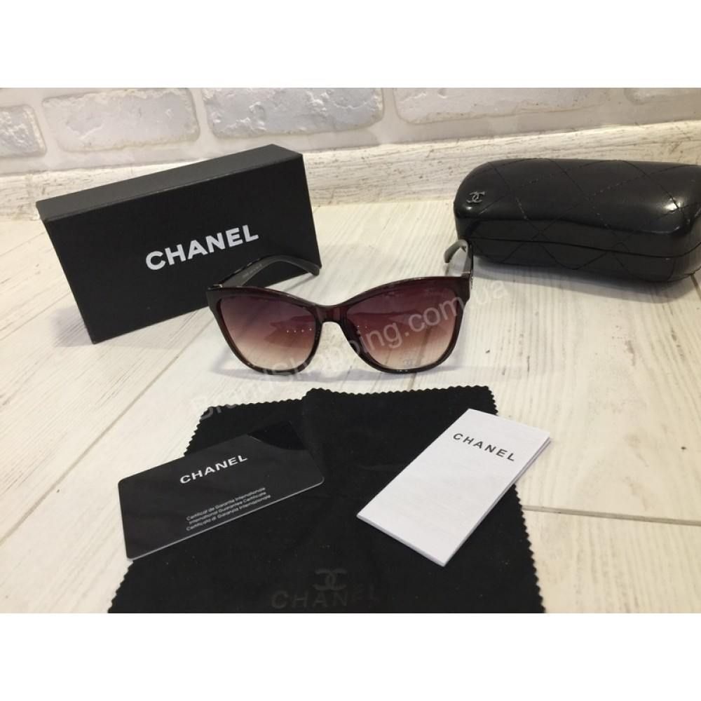 NEW 2018!!Женские очки солнцезащитные CHANEL в коричневом цвете  1764
