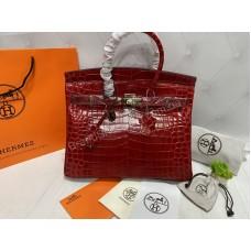 Hermes Birkin 35см крокодил  арт21516