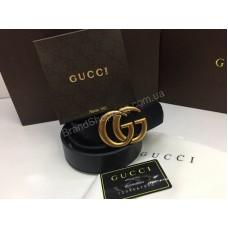 NEW 2018 Стильный кожаный ремень Gucci Lux из натуральной кожи с номерным знаком арт 2083