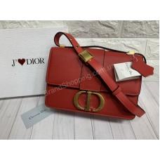 Сумка женская Dior реплика натуральная кожа в красном цвете  арт 20323