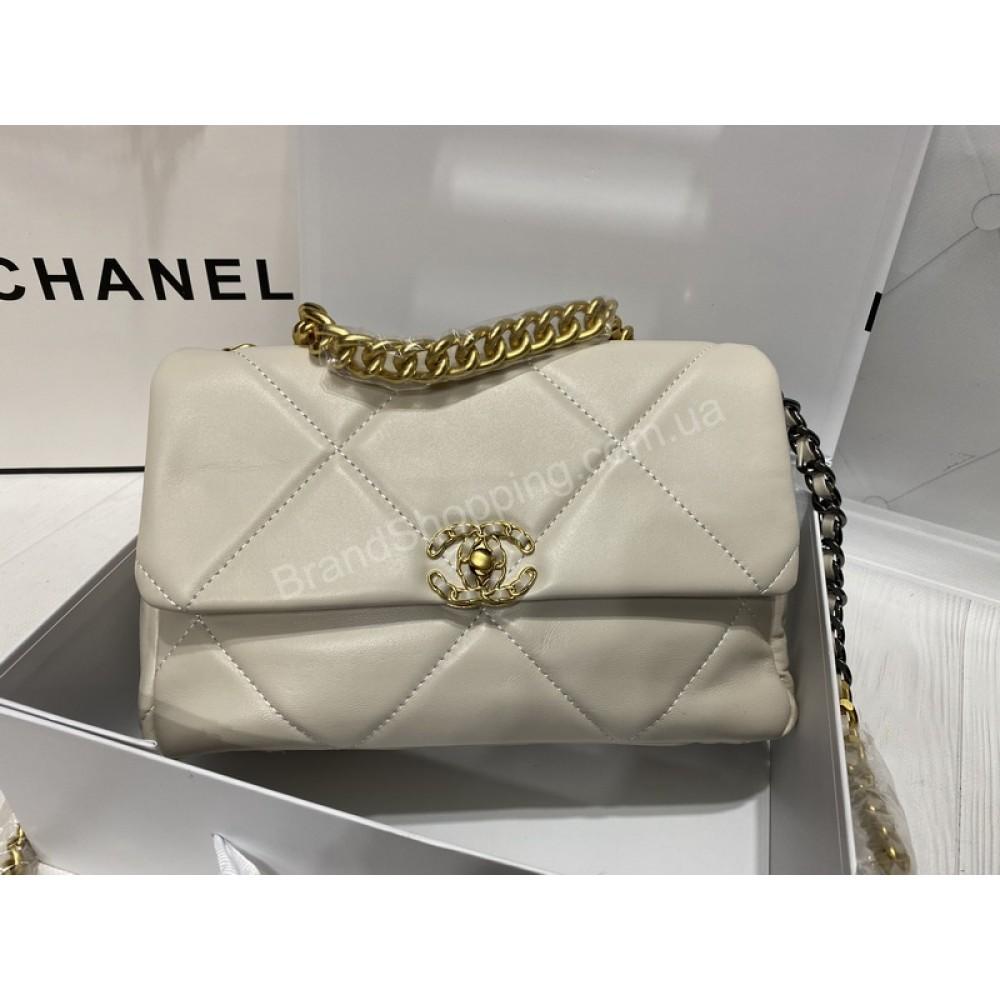 Chanel сумка реплика в белом цвете арт 21519