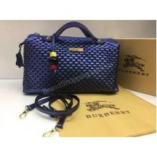 NEW 2018 Женская сумочка Burberry из натуральной кожи в Lux качестве цвет синий арт 2090