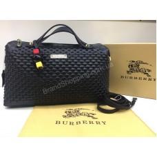 Хит 2018 Шикарная сумочка Burberry из натуральной кожи цвет черный арт 2094