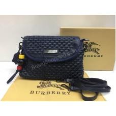 ХИТ 2018 Шикарная сумочка-клатч Burberry из натуральной кожи цвет   blue арт  0195s