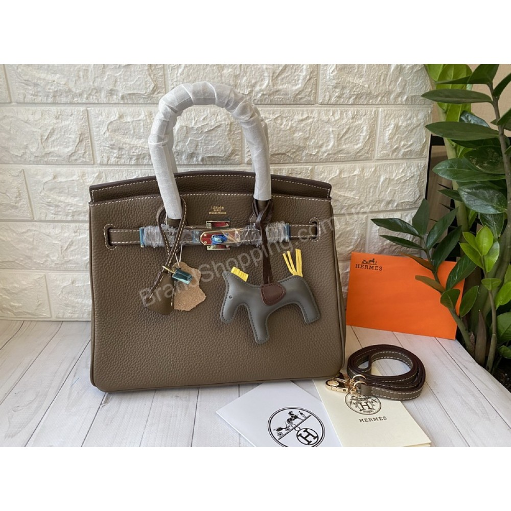 Hermes Birkin 30см женская сумка в цвете мокко арт 21429