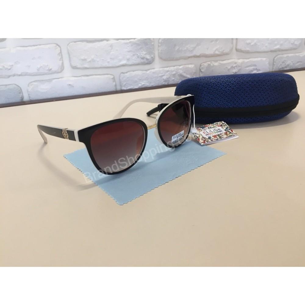 NEW 2018!!Очки солнцезащитные комбинированные коричневые с бежевым 1783
