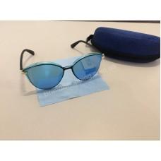 NEW 2018!!Очки солнцезащитные зеркальные в синем цвете 1786