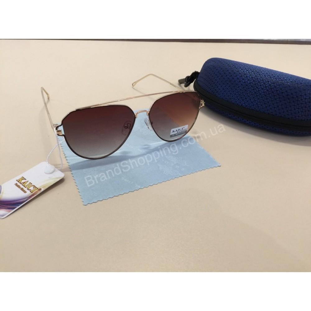 NEW !!!Шикарные женские очки цвет коричневый 1794