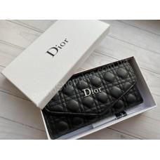 Кошелек Dior реплика в полном комплекте черный арт21432