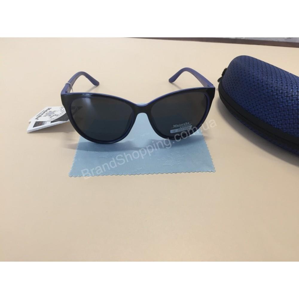 NEW! Солнцезащитные женские очки комбинированные черные с синим 1795
